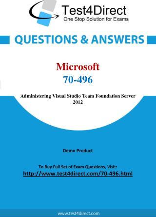 Microsoft 70-496 Exam Questions