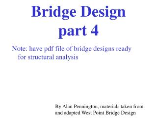 Bridge Design  part 4