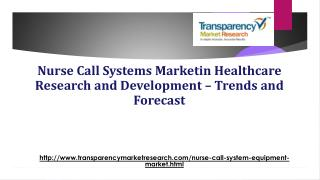 Nurse Call Systems Market: Increasing Demand for Better Healthcare
