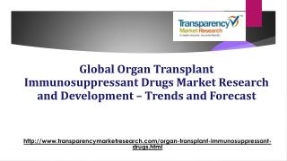 Global Organ Transplant Immunosuppressant Drugs Market to Decline at -5.0% CAGR till 2023 due to Demand and Supply Imbal