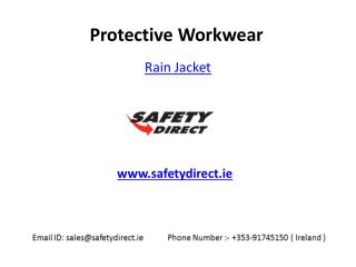 Launching Workwear Rain Jacket in Ireland is at SafetyDirect.ie