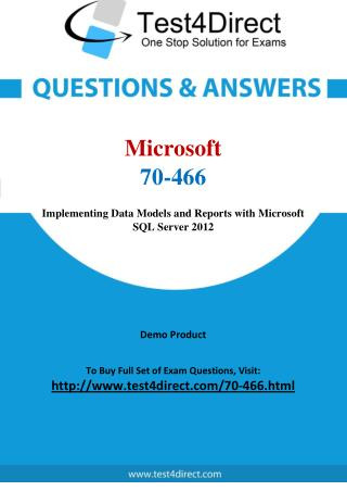 70-466 Microsoft Exam - Updated Questions