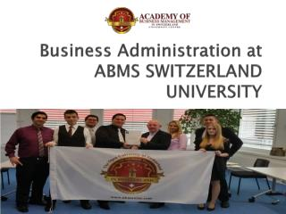Business Administration at ABMS SWITZERLAND UNIVERSITY