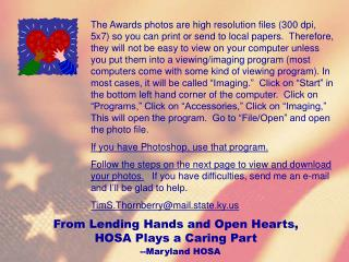 Click here for the 2003 State HOSA Conference Awards ...