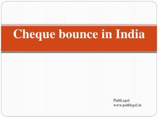 Cheque bounce in India