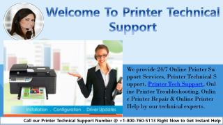 Welcome To Printer Technical Support