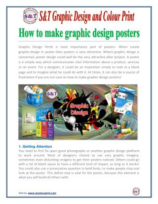 How to make graphic design posters