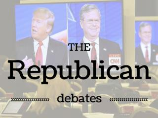 The Republican debates