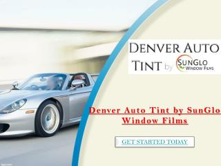 Sunglo Window Tinting & Clearbras Boulder Co