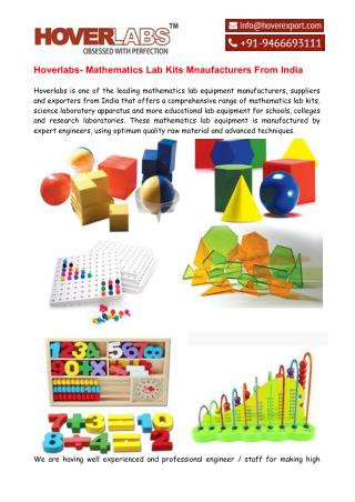 Hoverlabs - Mathematics Lab Kits Mnaufacturers India