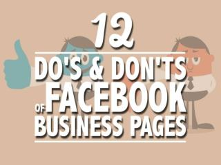 Do's and Don'ts of using Facebook for Business