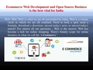 Ecommerce Web Development India