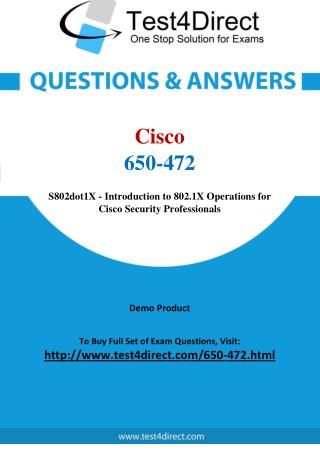 Cisco 650-472 Exam - Updated Questions