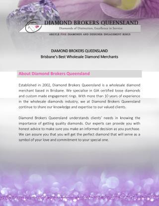 Diamond Brokers Queensland: Creators of Stunning Custom Diamond Rings