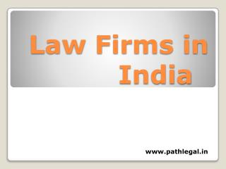 Law Firms in India