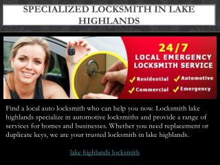Locksmith Lake Highlands