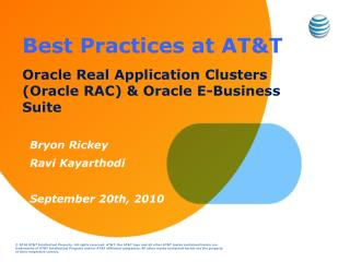 Best  Practices at AT&T