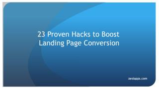 23 Provent Hacks to Boost Landing Page Conversion