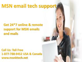 Call MSN email Support 1-877-788-9452 tollfree number to get email support