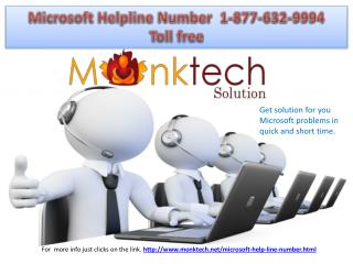 Microsoft Helpline number @ 1-877-632-9994 dial toll free for help