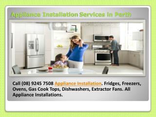Appliance Installation Services in Perth