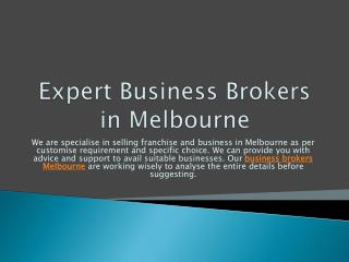 Expert Business Brokers in Melbourne