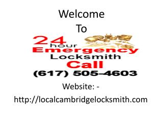 Locksmith Cambridge MA