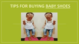 Tips for buying baby shoes