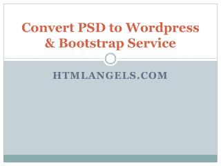 Convert Psd to Pootstrap - htmlangles