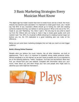 3 Basic Marketing Strategies Every Musician Must Know
