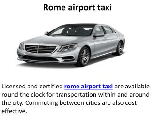 Rome airport taxi, Airport transfers rome, Fiumicino airport transfers
