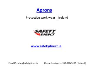 Latest Aprons in Ireland at SafetyDirect.ie