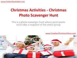 Christmas Activities - Christmas Photo Scavenger Hunt