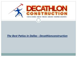The Best Patios in Dallas - Decathlonconstruction