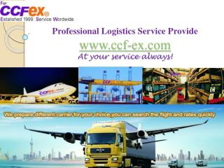 E-commerce logistics providers