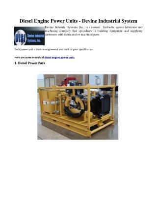 Diesel Engine Power Units - Devine Industrial System