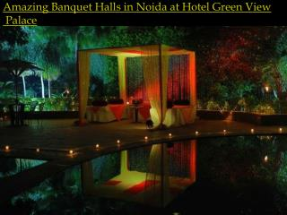 Amazing Banquet Halls in Noida at Hotel Green View Palace