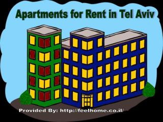 Basic requirement of apartments for rent in tel aviv