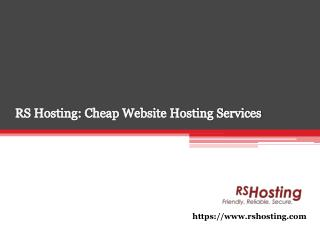 RS Hosting: Cheap Website Hosting Services UK