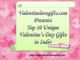 Top 10 Unique Valentine's Day Gifts in India..!!