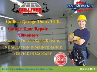 Professional Garage Door Repair, replacement & Installation Services in Calgary