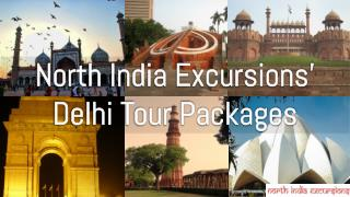 North India Excursions' Delhi Tour Packages