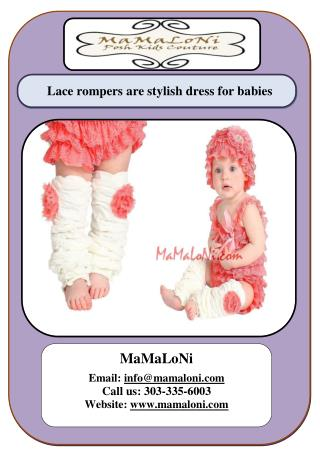 Lace rompers are stylish dress for babies