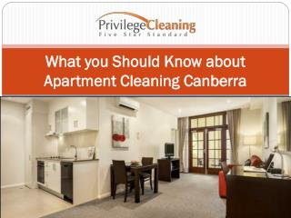 What you Should Know about Apartment Cleaning Canberra