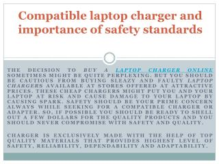 Compatible laptop charger