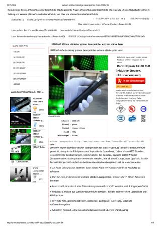 Online-Shop von Laserpointer