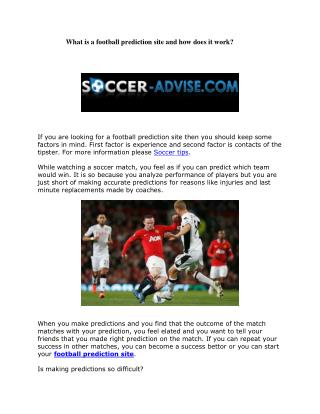 What is a football prediction site and how does it work?