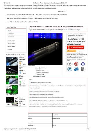 Super starke 50000mW blauer Laserpionter 5in1