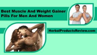 Best Muscle And Weight Gainer Pills For Men And Women
