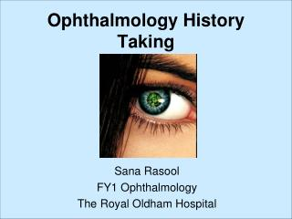 Ophthalmology History Taking
